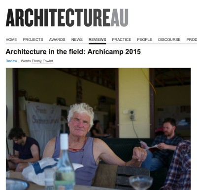 Architecture AU Richard Leplastrier ArchiCamp published Jiri Lev